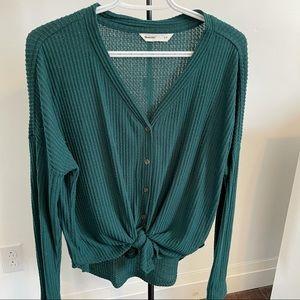 Bluenotes waffle knit top